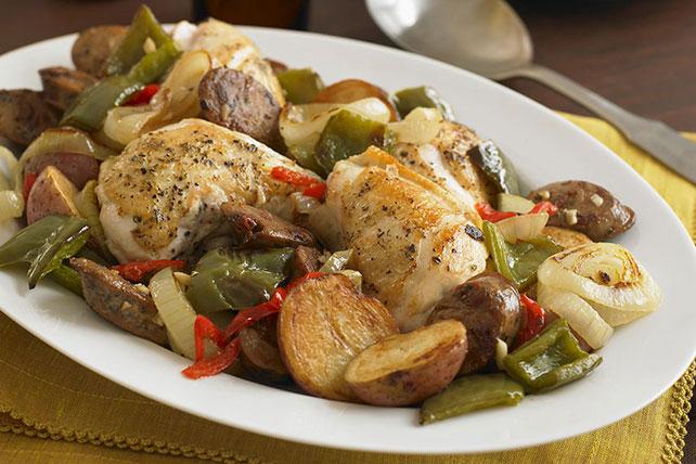 Tuscan Chicken and Sausage Bake  Image 1
