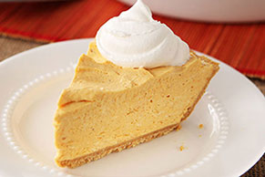 Cheesecake de calabaza sin hornear