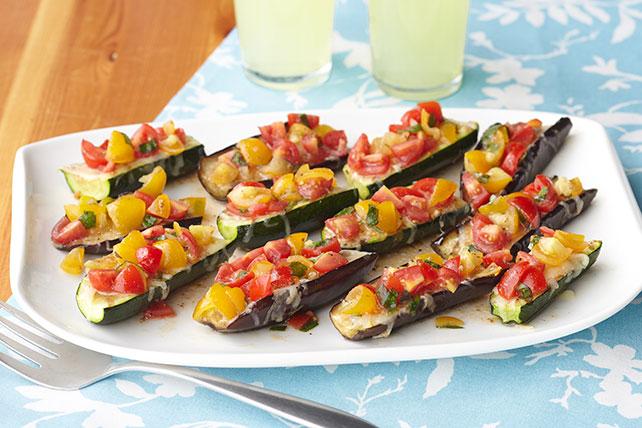 Calabacitas y berenjenas rellenas de tomate y queso Image 1