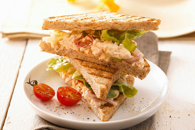 Egg Salad-Tomato Sandwiches