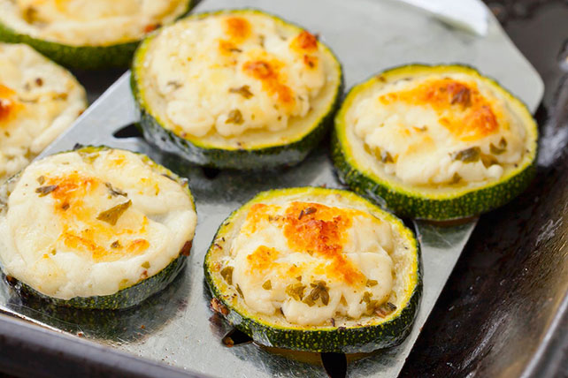 Cheesy Broiled Zucchini Slices Image 1