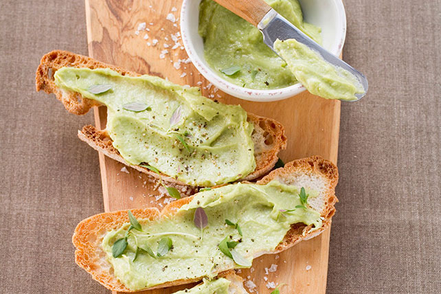 Avocado-Hummus Bruschetta Image 1