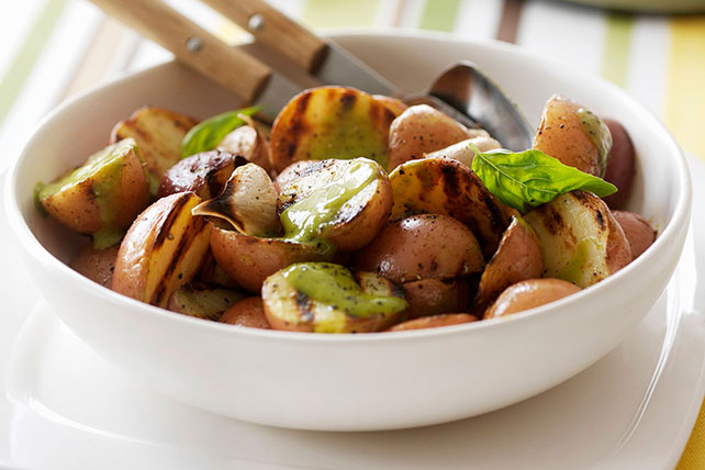 Grilled Potatoes with Jalapeño Pesto Recipe - Kraft Canada