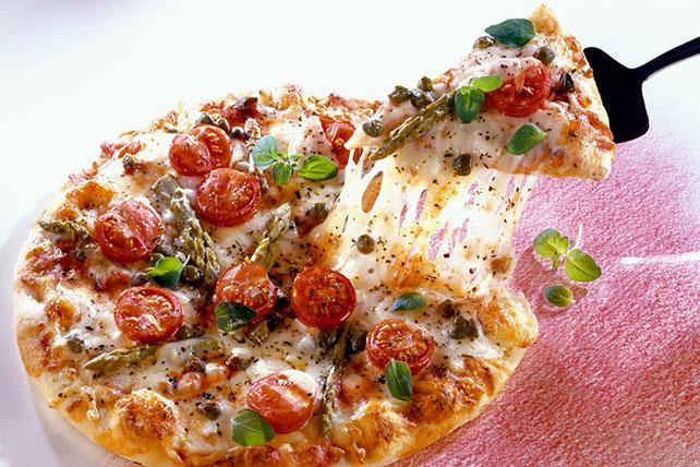 Asparagus, Tomato & Caper Pizza Image 1