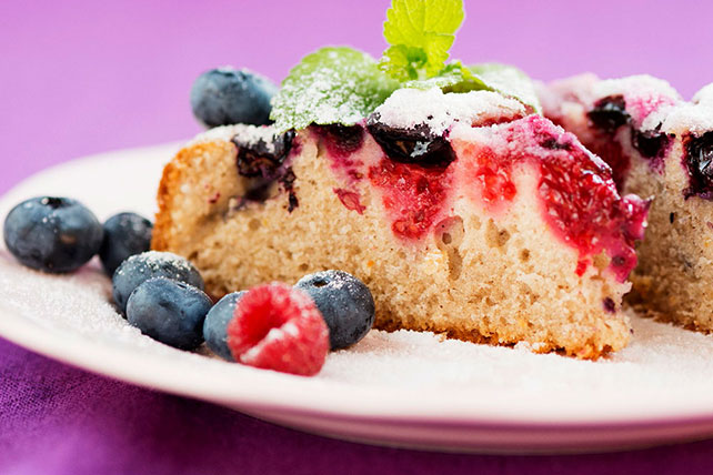 Mixed Berry Sour Cream Cake Image 1