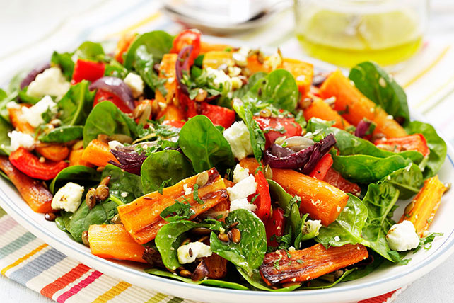 Roasted Beet, Carrot and Spinach Salad Image 1