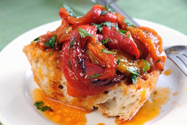 Bruschetta with Roasted Peppers Recipe