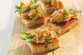 Shrimp and Asparagus Bruschetta