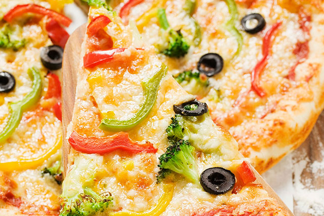 Cheese and Veggie Pizza Image 1