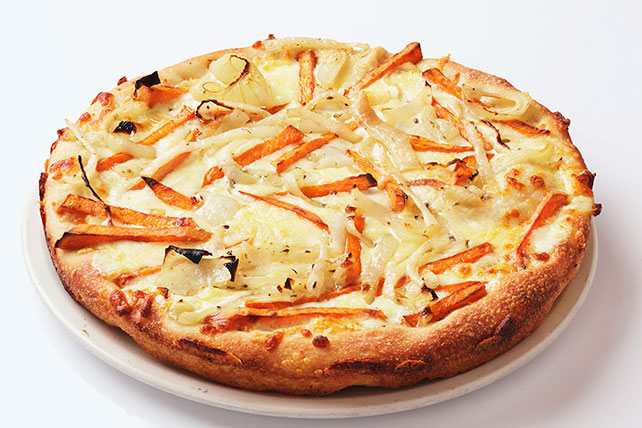 Pizza with Sweet Potato and Onion