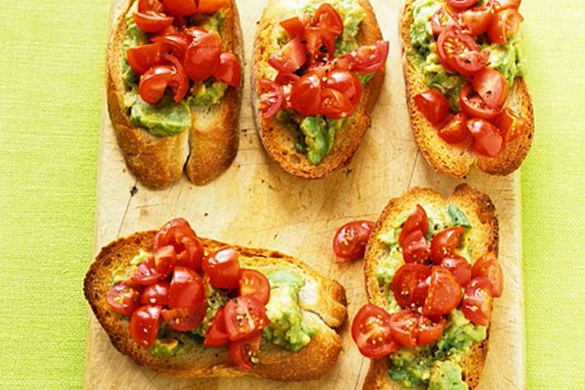Avocado & Tomato Crostini Recipe