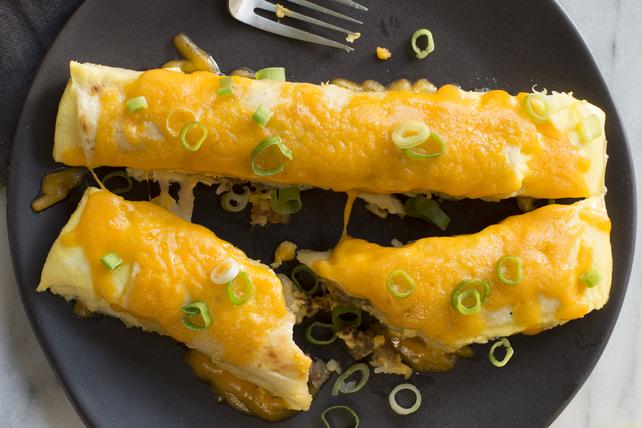 Enchiladas à la saucisse, aux pommes de terre et au fromage Image 1