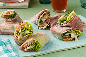 Caesar Salad Rolls