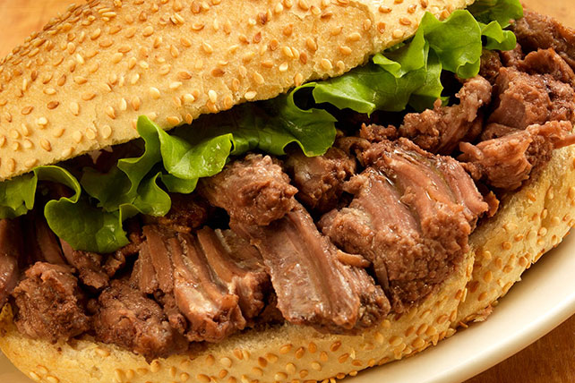 Slow-Cooker Pot Roast Sandwiches Image 1
