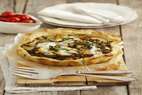 Beefy Zucchini & Bean Phyllo Tart Image 2
