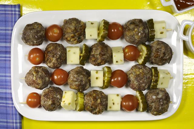 Cheeseburger Meatball Kabobs