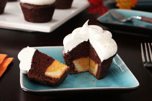 Mini Chocolate-Pumpkin 'Pie Cakes'