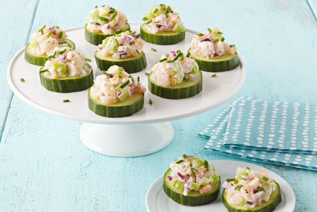 Shrimp-Cucumber Appetizers Image 1