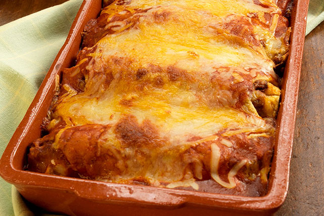 Baked Chicken and Cheese Enchiladas