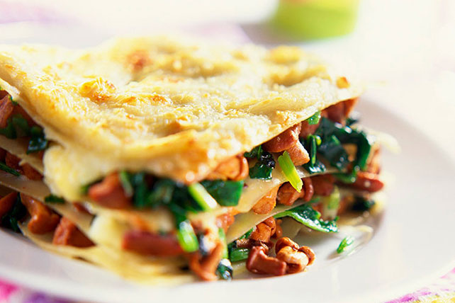 Lasagna with Wild Mushrooms and Spinach Recipe - Kraft Canada