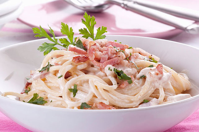 Classic Spaghetti Carbonara Image 1