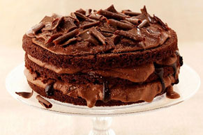 Triple Layer Chocolate Cake
