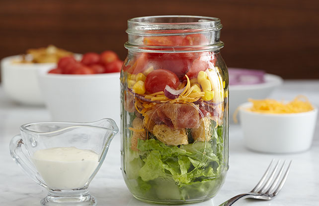 Bacon-Ranch Jar Salad