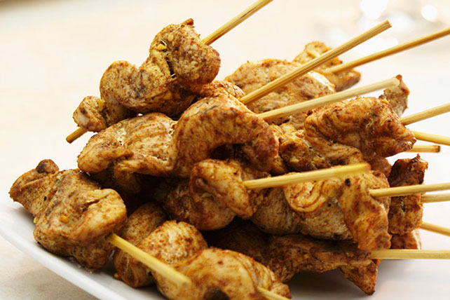 Chicken Satay with Peanut Dipping Sauce Image 1