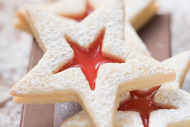 Star-Shaped Jam Cookies Image 1