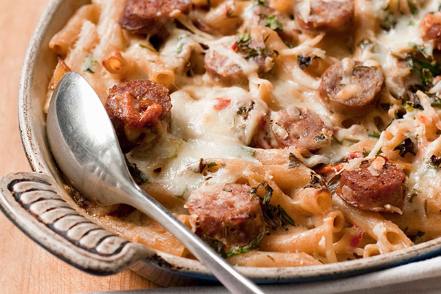 Cheesy Sausage and Penne Bake