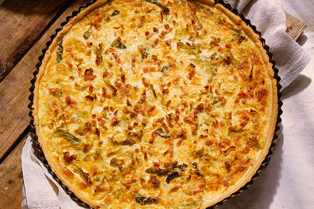 Délicieuse quiche au fromage et au bacon Image 1