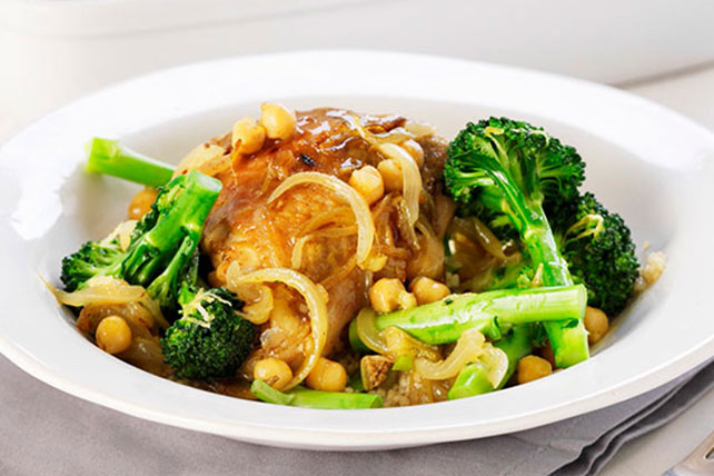Asian Chicken with Broccoli and Chickpeas