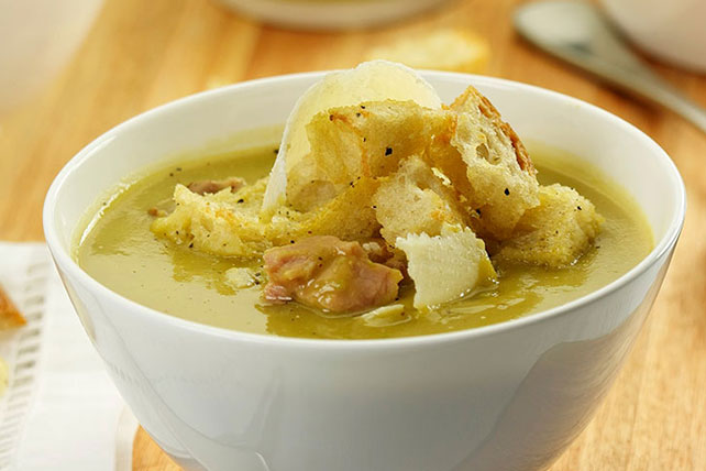 Split Pea, Ham and Parmesan Soup Image 1