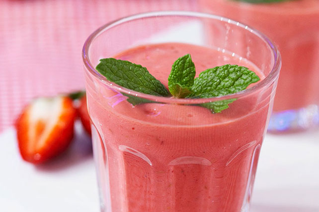 Creamy Strawberry Milkshake Image 1