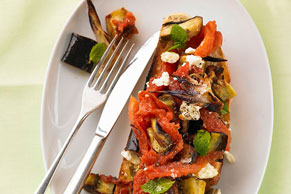 Roasted Vegetable Bruschetta