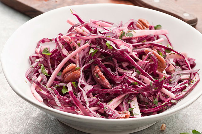 Red Cabbage Slaw with Seared Steak