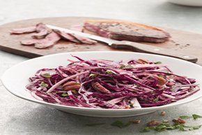 Red Cabbage Slaw with Seared Steak Image 2