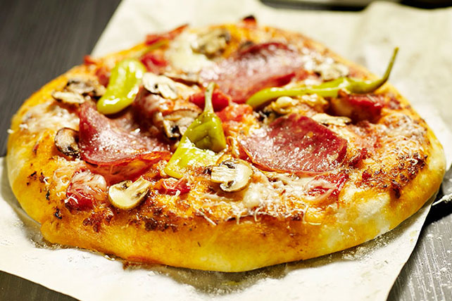 Salami and Hot Pepper Pizza Image 1