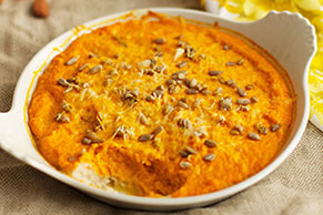 Cheesy Mashed Sweet Potatoes