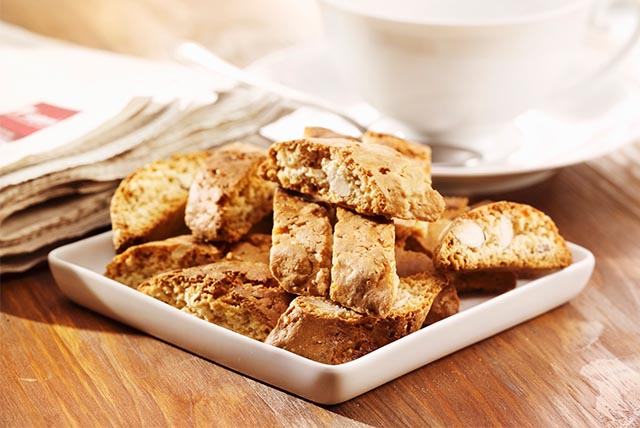 White Chocolate, Hazelnut and Orange Biscotti