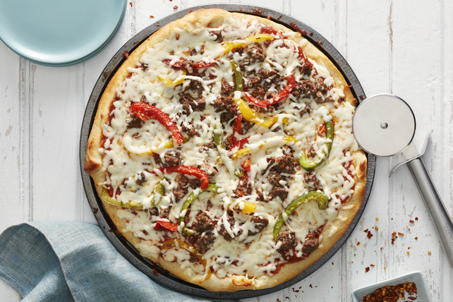 Beef and Pepper Pizza Image 1