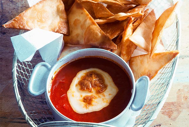 Fresh Tomato Salsa Dip with Tortilla Chips Image 1
