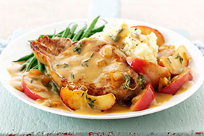 Pork Chops with Apple Cider Sauce