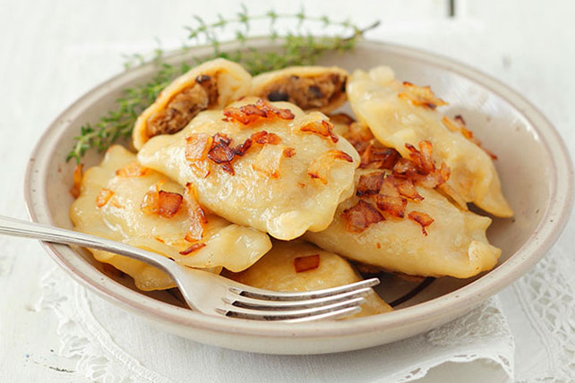 Easy Bacon and Onion Pierogies Image 1