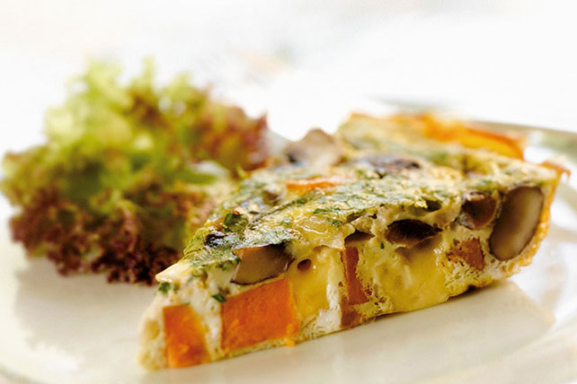 Sweet Potato, Mushroom and Cheese Frittata Image 1