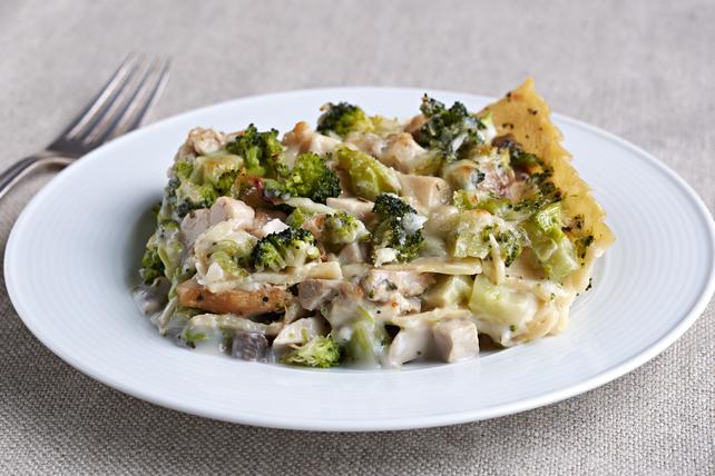 Lasagne crémeuse au brocoli et au poulet Image 1