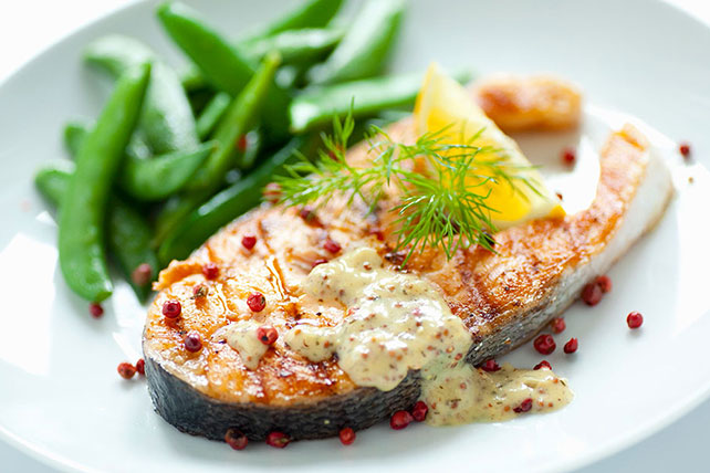 Grilled Salmon with Dijon Mustard Sauce Image 1