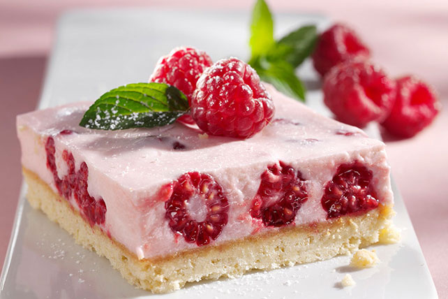 Creamy Raspberry Mousse Bars Image 1