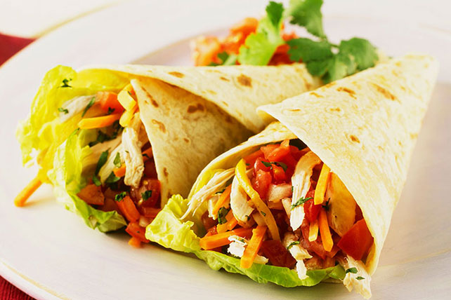 Chicken and Vegetable Wraps for Two