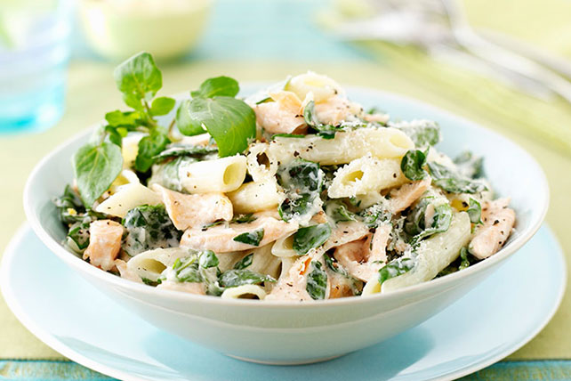 Penne with Salmon and Watercress Image 1